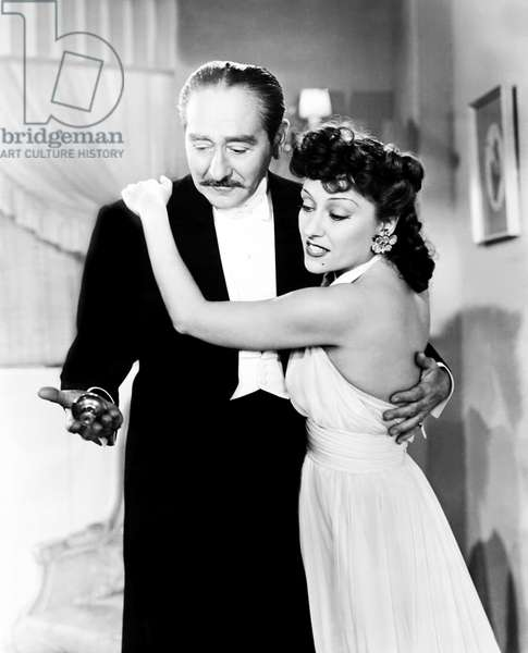 FATHER TAKES A WIFE, from left, Adolphe Menjou, Gloria Swanson, 1941