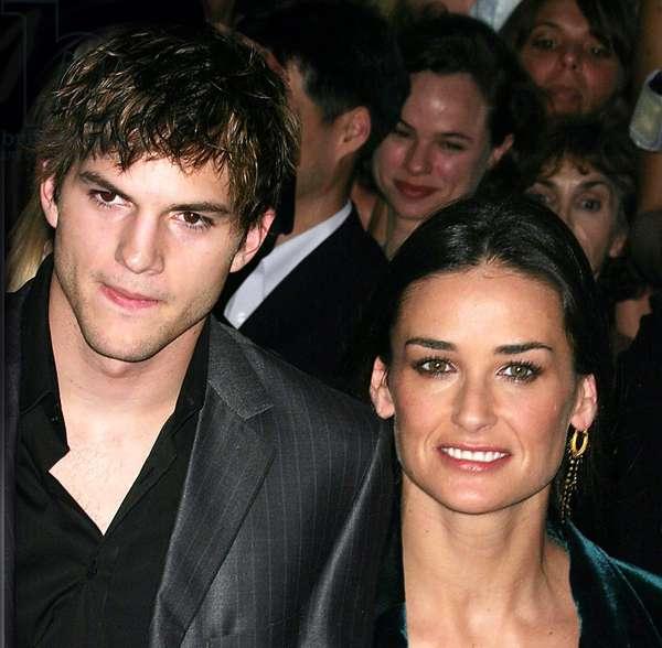 Ashton Kutcher And Demi Moore, 2003 Screening of Charlies Angels: Full Throttle (photo)