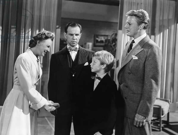 THE BRIDE GOES WILD, from left: June Allyson, Hume Cronyn, Jackie 'Butch' Jenkins, Van Johnson, 1948