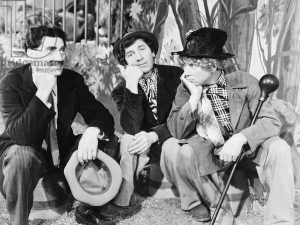 AT THE CIRCUS, from left: Groucho Marx, Chico Marx, Harpo Marx, 1939
