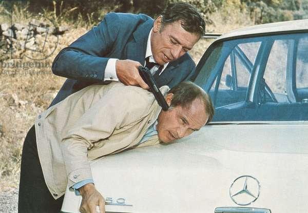 LE FILS, Yves Montand (top), Marcel Bozzuffi, 1973