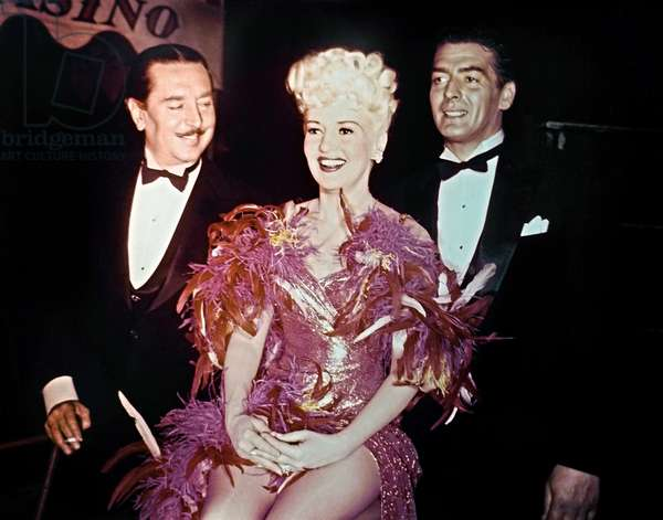 WABASH AVENUE, from left: Reginald Gardiner, Betty Grable, Victor Mature, 1950