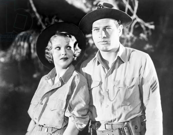 COME ON, MARINES!, from left, Ida Lupino, Richard Arlen, 1934