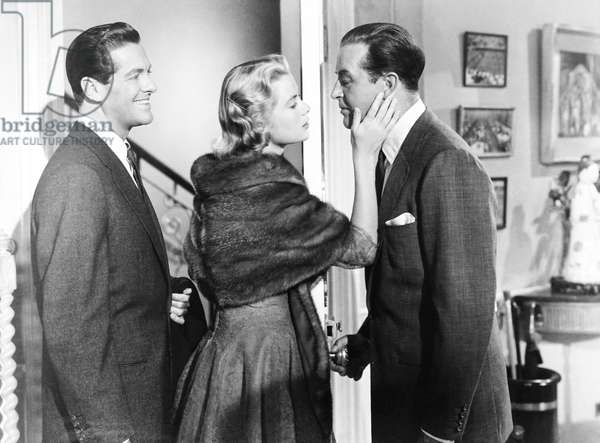 DIAL M FOR MURDER, from left, Robert Cummings, Grace Kelly, Ray Milland, 1954