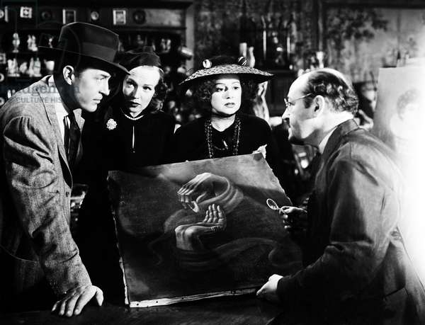 THE BIG CLOCK, from left, Ray Milland, Maureen O'Sullivan, Elsa lanchester, Henri Letondal, 1948