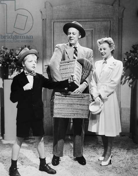THE BRIDE GOES WILD, from left: Jackie 'Butch' Jenkins, Van Johnson, June Allyson, 1948