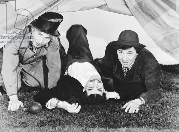 AT THE CIRCUS, from left: Harpo Marx, Groucho Marx, Chico Marx, 1939