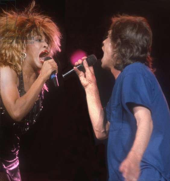 Tina Turner Mick Jagger, 1985 (photo)