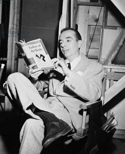 FATHER OF THE BRIDE, director Vincente Minnelli on set, 1950