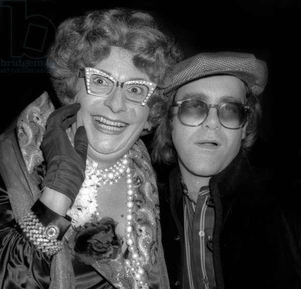 Dame Edna Elton John at Studio 54, 1978 (photo)