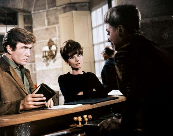 TWO FOR THE ROAD, from left, Albert Finney, Audrey Hepburn, 1967