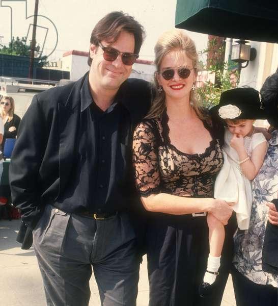 Dan Akroyd Donna Dixon and daughter Danielle, 1992 (photo)