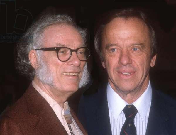 Isaac Azimov and Alan Shepard, 1985 (photo)