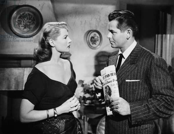 AFFAIR IN TRINIDAD, from left: Rita Hayworth, Glenn Ford, 1952
