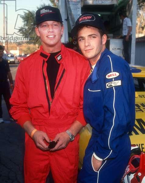 Ian Ziering, Luke Perry, 1991 (photo)