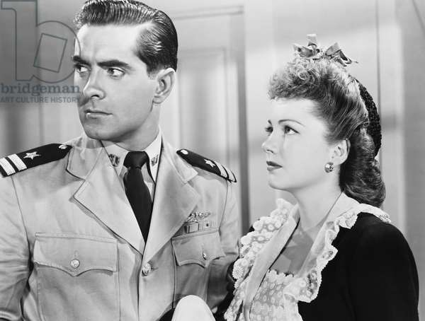CRASH DIVE, from left: Tyrone Power, Anne Baxter, 1943