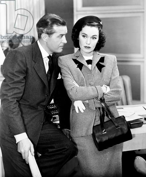 THE BIG CLOCK, from left, Ray Milland, Maureen O'Sullivan, 1948