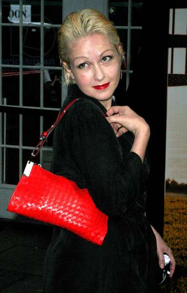 Cyndi Lauper Mercedes/Benz Fashion Week Nicole Miller Spring, 2004 Collection Bryant Park, New York City 09/14/2003 (photo)