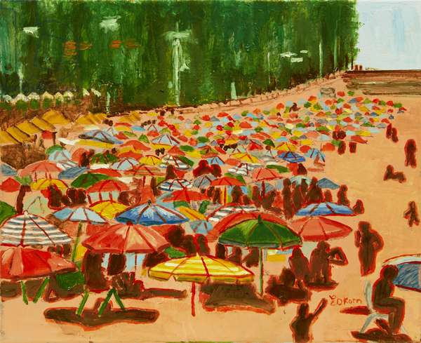 On The Beach in Andalucia 1, 2015 (oil on canvas)