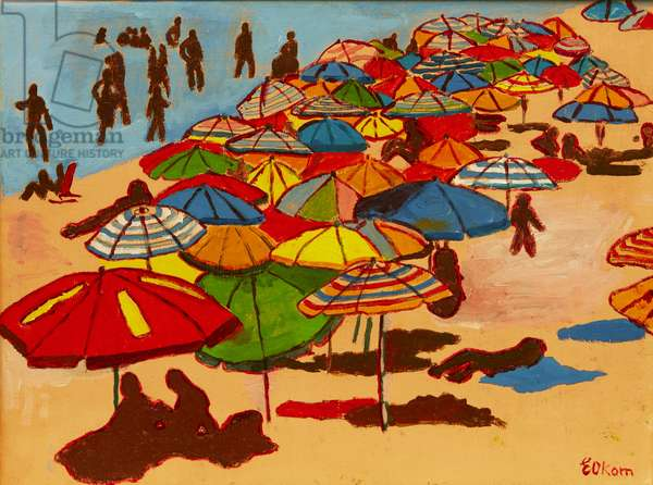 On The Beach in Andalucia 3, 2015 (oil on canvas)
