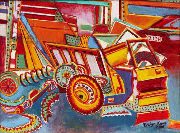 The Yard 1, 2001 (oil on canvas)