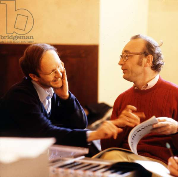 Alfred Brendel with Heinz