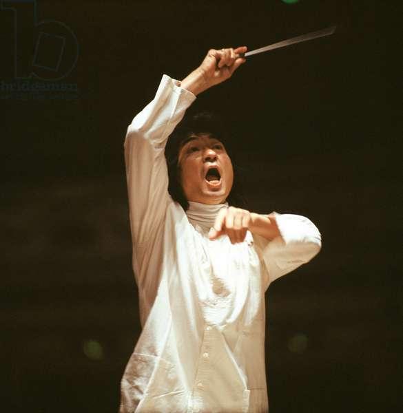 Seiji Ozawa conducting in