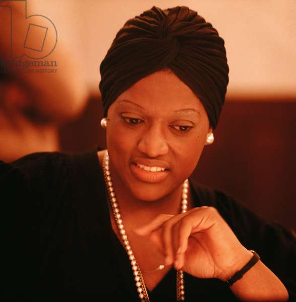Jessye Norman at recording