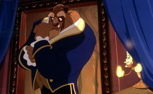 BEAUTY AND THE BEAST, Beast, Lumiere, 1991, (c)Buena Vista Pictures/courtesy Everett Collection