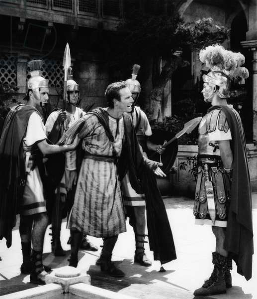 BEN-HUR, Charlton Heston, Stephen Boyd, (right), 1959