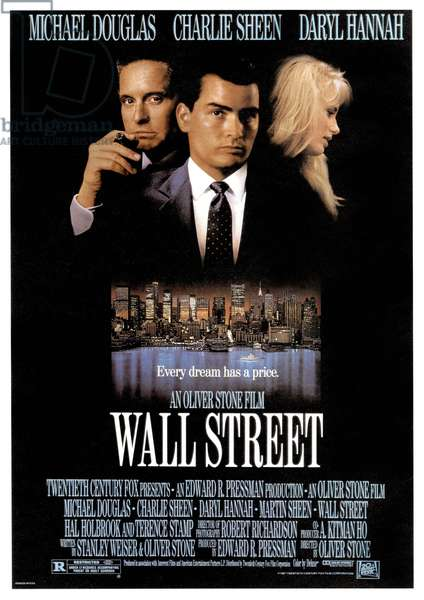 Wall Street, directed by Oliver Stone, 1987 (poster)