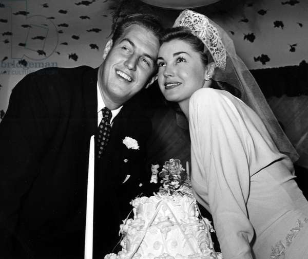 ESTHER WILLIAMS, marriage to Ben Gage, 1945.