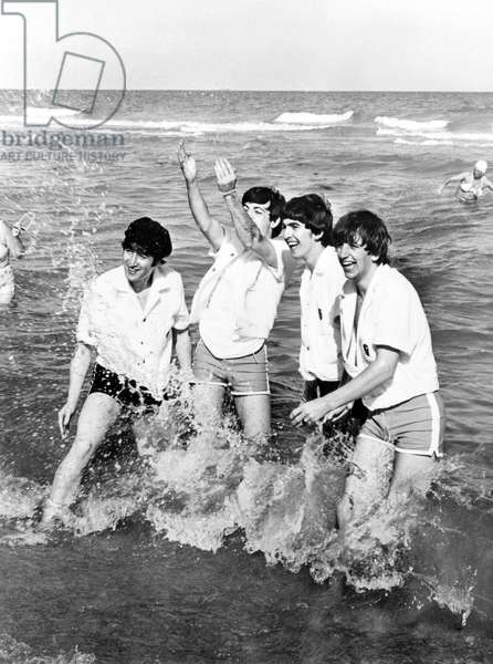 The Beatles  (l-r: John Lennon, Paul McCartney, George Harrison, Ringo Starr) in Miami, Florida ca.