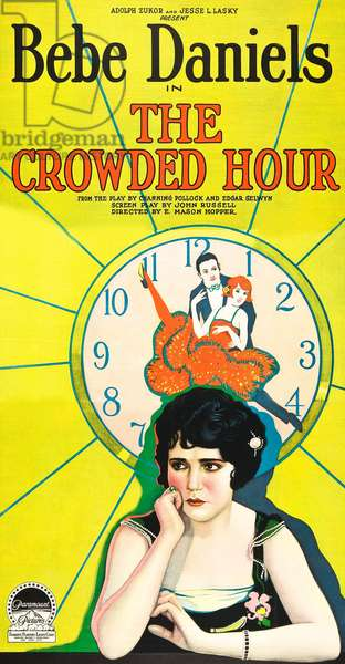 THE CROWDED HOUR: THE CROWDED HOUR, Bebe Daniels on poster art, 1925.