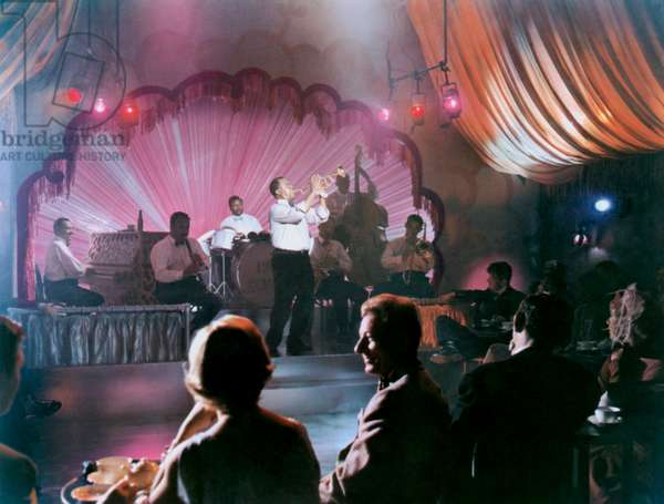 THE FIVE PENNIES, Louis Armstrong, (onstage), Danny Kaye, (in audience), 1959