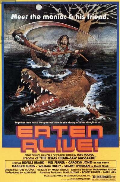 Le crocodile de la mort: EATEN ALIVE, poster, 1977