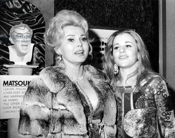 Zsa Zsa Gabor, with her daughter, Francesca Hilton (right), 1970