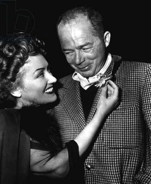 SUNSET BOULEVARD, from left: Gloria Swanson, director Billy Wilder, on set, 1950