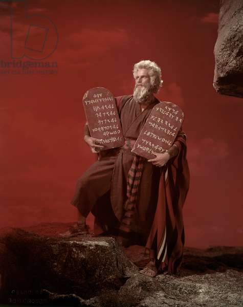 THE TEN COMMANDMENTS, Charlton Heston, 1956