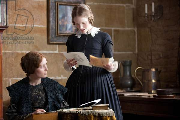 Jane Eyre: JANE EYRE, from left: Tamzin Merchant, Mia Wasikowska, 2011. ph: Laurie Sparham/©Focus Features/Courtesy Everett Collection