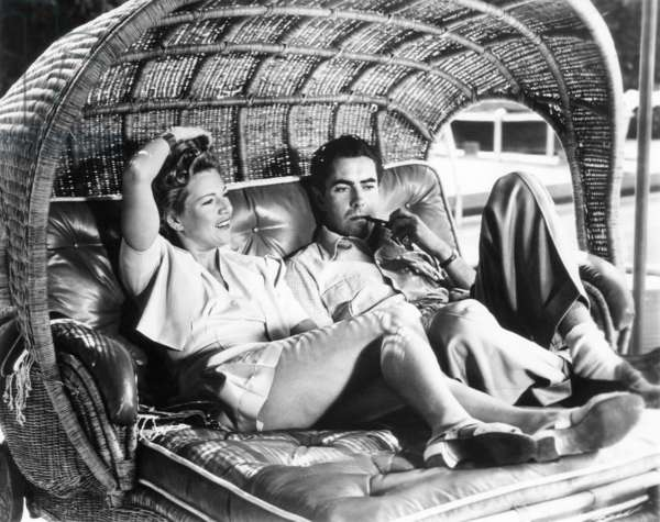 Tyrone Power with wife, Annabella, ca. 1941