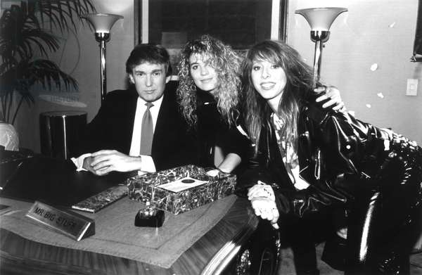Donald Trump, appearing as 'Mr.Big Stuff', with Precious Metal, (Janet Robin, Leslie Knauer), in the