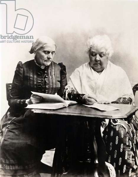 Susan B. Anthony et Elizabeth Cady Stanton: Susan B. Anthony and Elizabeth Cady Stanton were the two great leaders of the 19th century American Women's Suffrage and Equal Rights cause. Ca. 1891.