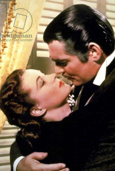 GONE WITH THE WIND, from left: Vivien Leigh, Clark Gable, 1939