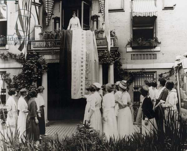 Tennessee: When Tennessee became the 36th state to ratify the Women's suffrage amendment on Aug 18, 1920, Alice Paul unfurled the National Woman's Party ratification banner with its thirty-six victory stars and from the balcony of the party headquarters in Washington, D.C.
