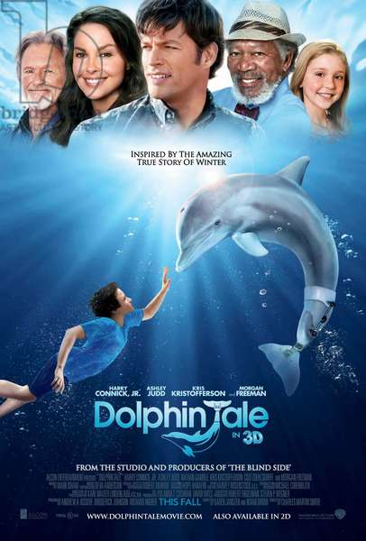 L'incroyable histoire de Winter le dauphin: DOLPHIN TALE, US poster art, top, from left: Kris Kristofferson, Ashley Judd, Harry Connick, Jr., Morgan Freeman, Cozi Zuehlsdorff, bottom: Nathan Gamble, 2011, ©Warner Bros. Pictures/courtesy Everett Collection