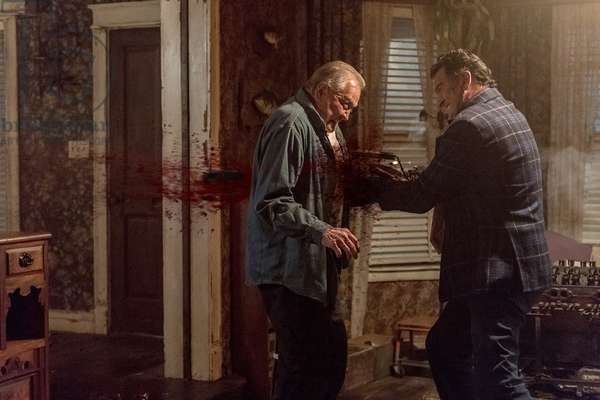 ASH VS. EVIL DEAD, from left: Lee Majors, Bruce Campbell, 'Apparently Dead', (Season 3, ep. 303, aired March 11, 2018). photo: Geoffrey Short / ©Starz! / courtesy Everett Collection