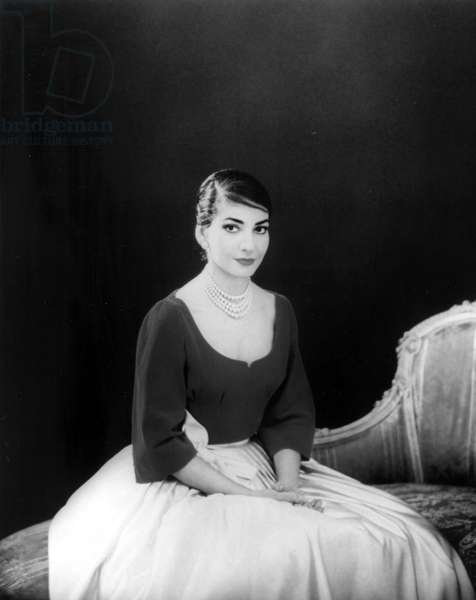 Maria Callas, undated photo