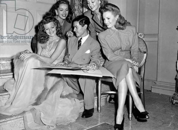 Jean Louis, Rita Hayworth, Jinx Falkenberg, Evelyn Keyes, Janet Blair