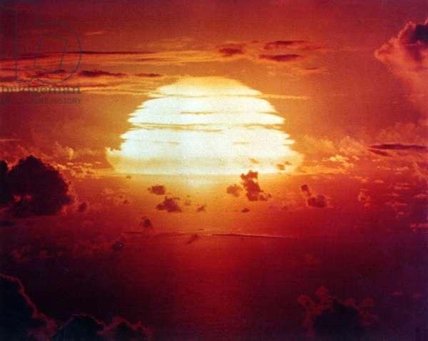Operation Redwing: The APACHE Shot, was a 1.85 megaton hydrogen bomb. Enewetak Atoll on July 8, 1956.